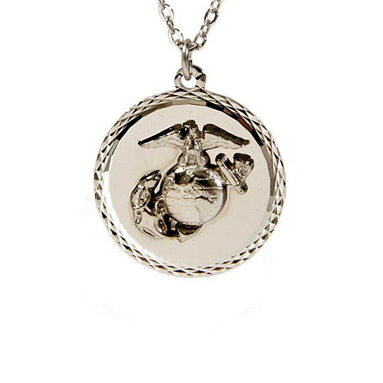 buy united states marine corps necklace by rush industries. Black Bedroom Furniture Sets. Home Design Ideas