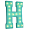 "21"" Letter H - (Plug-In) Rustic Metal Vintage Inspired Marquee Sign Light - 24 Colors."