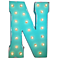 "21"" Letter N - (Plug-In) Rustic Metal Vintage Inspired Marquee Sign Light - 24 Colors."