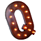 "21"" Letter Q - (Plug-In) Rustic Metal Vintage Inspired Marquee Sign Light - 23 Colors."
