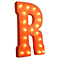 "21"" Letter R - (Plug-In) Rustic Metal Vintage Inspired Marquee Sign Light - 24 Colors."