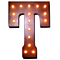 "21"" Letter T - (Plug-In) Rustic Metal Vintage Inspired Marquee Sign Light - 24 Colors."