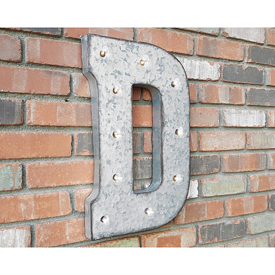 """24 Best Vintage Rustic Images On Pinterest: Buy 21"""" Letter D. Battery Operated. Choose Rustic Or Non"""
