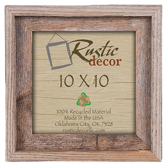 10x10 Rustic Barn Wood Signature Photo Frame