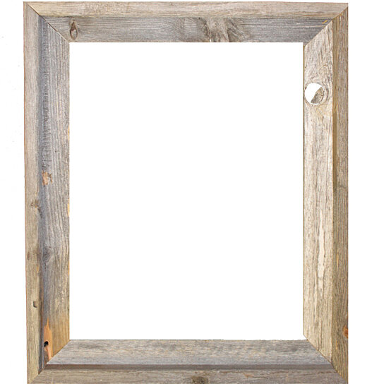 Buy 16x20 Picture Frames – Barnwood Reclaimed Wood Open Frame (No ...