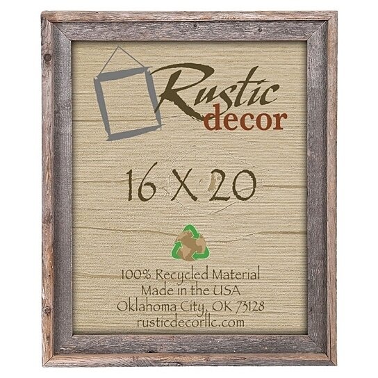 buy 16x20 rustic barn wood signature wall frame by rustic decor llc on opensky