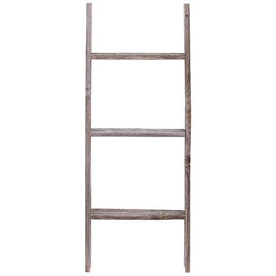 3 Foot Rustic Reclaimed Barn Wood Decorative Ladder