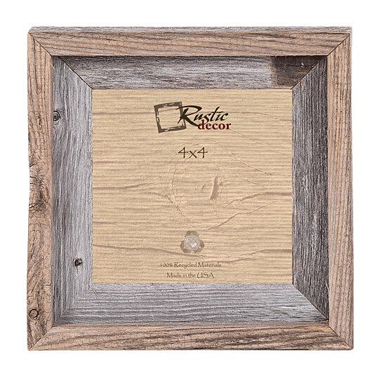 Buy 4x4 Rustic Barn Wood Signature Wall Frame By Rustic Decor Llc On