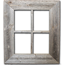 Rustic Barn Wood Window Frame
