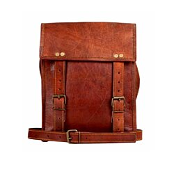 Rustic Town Genuine Leather Vintage Crossbody Messenger Satchel Bag Men Women Business Briefcase Carry IPad Book For Office College School
