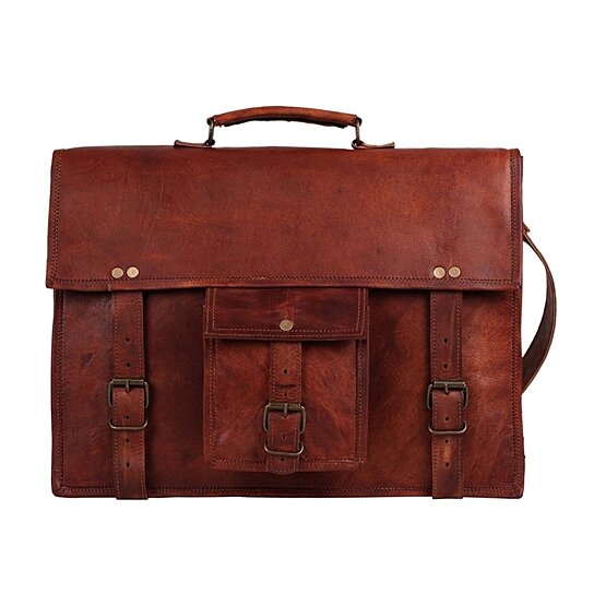 eddf8cb25f89 Buy Rustic Town Genuine Leather Crossbody Messenger Satchel Bag Men Women  Business Briefcase Carry Laptop Book-Everyday Office College School by  Rustic Town ...