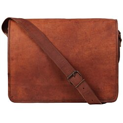 Rustic Town Genuine Leather Vintage Crossbody Messenger Bag