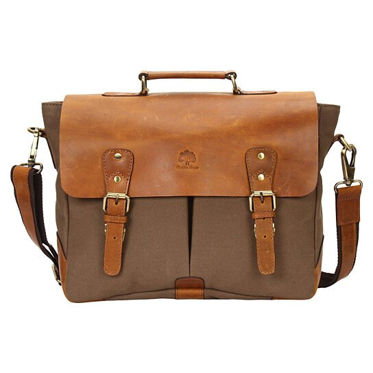 ff6c50e117d4 Buy Rustic Town Handmade Leather Canvas Vintage Crossbody Messenger Bag  Travel Work Carry Laptop Books Everyday Office College School Satchel by Rustic  Town ...