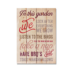 In This Garden, Garden Rules, Garden Art Print on Wood, Colorful Wall Art, Gift Ideas (FBITG)