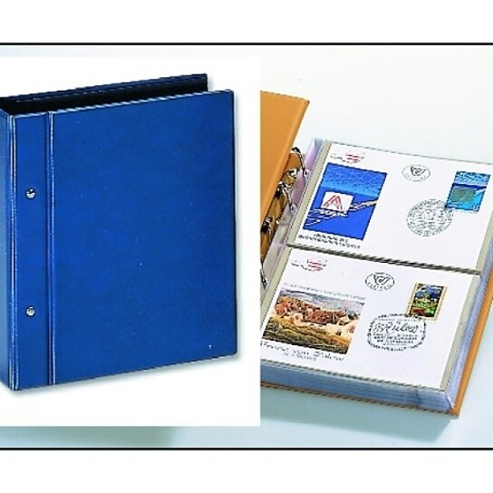 buy first day cover albums compact blue package w transparent pages by safe collecting supplies