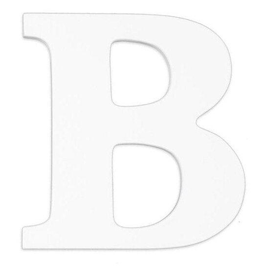 Buy large wooden wall letter b white by sallys store on for Big wooden letter b
