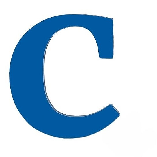 Buy Large Wooden Wall Letter Blue C By Sallys Store On Opensky