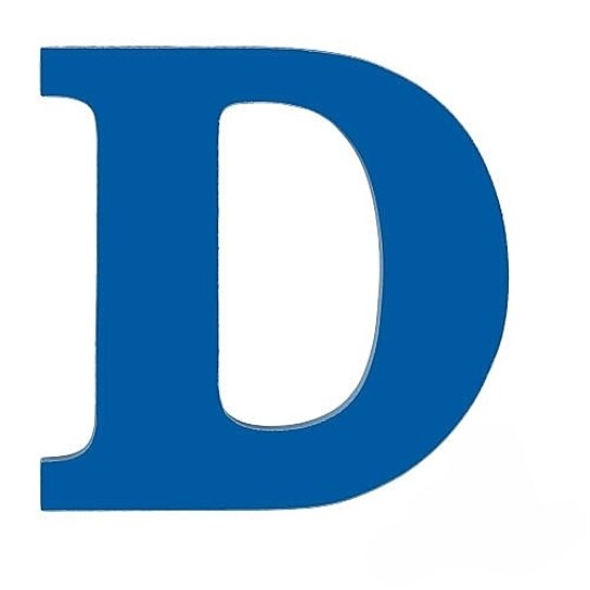Buy Large Wooden Wall Letter Blue D by Sallys Store on OpenSky