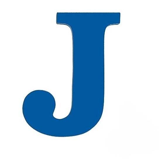 Buy Large Wooden Wall Letter Blue J By Sallys Store On OpenSky