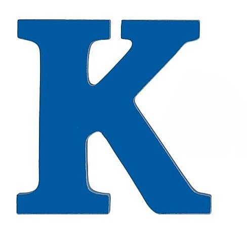 Buy large wooden wall letter blue k by sallys store on opensky for Large wooden letter k