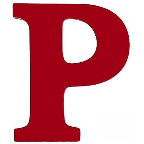 Buy large wooden wall letter p red by sallys store on opensky for Large wooden letter p