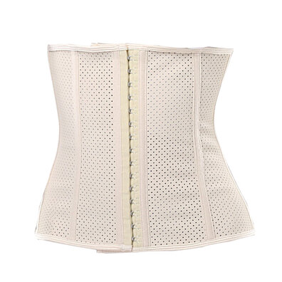 c74db1de338d4 New Mesh Breathable Corset 9 Steel Bone Fitness Corset Waistband Rubber