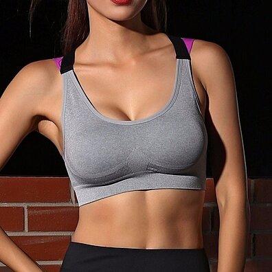 9ef7ee941a46a Womens Yoga Bras Push Up Sports Bra Gym Running Padded Bras Athletic Vest  Sportswear Underwear