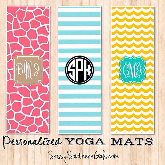 Buy Monogrammed / Personalized Yoga Mat, Design Your Own