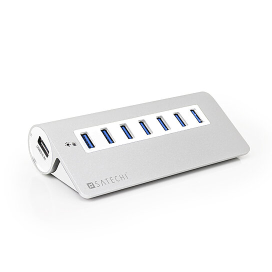 buy satechi 7 port usb 3 0 premium aluminum hub white by satechi on opensky. Black Bedroom Furniture Sets. Home Design Ideas