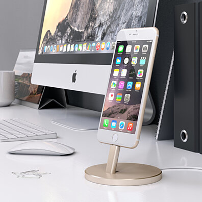 Satechi Aluminum Lightning Charging Stand (Gold)