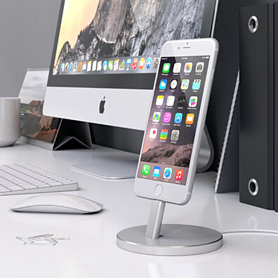 Satechi Aluminum Lightning Charging Stand (Silver)