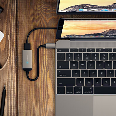Satechi Aluminum Type-C to HDMI Adapter 4K (60Hz) Supports MacBook, ChromeBook, Dell, Samsung S8 and More (Space Gray)