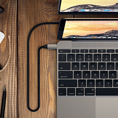 Satechi Aluminum Type-C to HDMI Cable 4K 60Hz Supports MacBook Pro, ChromeBook, Dell, Samsung S8 and More (Space Gray)