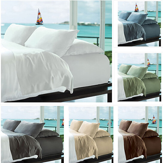 Buy Simple Threads Luxury Bamboo Soft 6pc Set 2200 TC Super Cool Solid  Colored Bed Sheets By SaveOnDeals On OpenSky