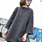 Oversize thick round nech big sleeves tassel blouse