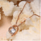 14k rose gold overlay sterling silver Rhinestone 1.5 TGW CZ Diamond Love heart pendant