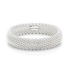 925 Sterling Silver Plated Woven Mesh Silky Chains Bracelet