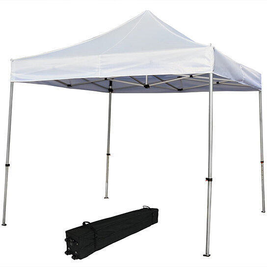 Buy Sunnydaze Commercial Grade Heavy-Duty Aluminum Straight Leg Quick-Up Instant Canopy Event Shelter 10 x 10 Foot Includes Rolling Bag... by Serenity ...  sc 1 st  Dot u0026 Bo & Buy Sunnydaze Commercial Grade Heavy-Duty Aluminum Straight Leg ...