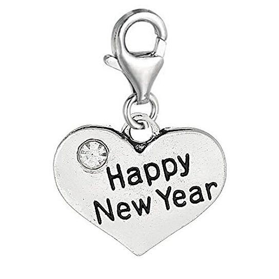 Buy happy new year heart clip on for european jewelry w lobster clasp by sexy sparkles on opensky - Happy new year sound europe ...