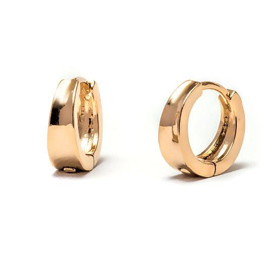 buy 18k gold plated gold huggie earrings by sgs