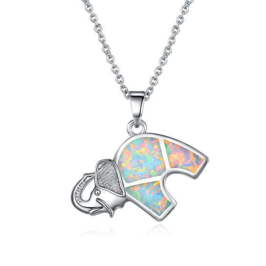 Buy 18k white gold plated fire opal elephant pendant necklace by sgs buy 18k white gold plated fire opal elephant pendant necklace by sgs international on opensky aloadofball Gallery