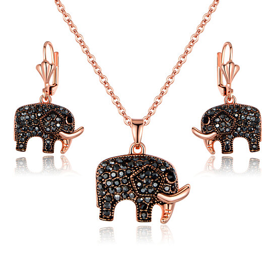 Jewellery & Watches Costume Jewellery Elephant Necklace And Earrings