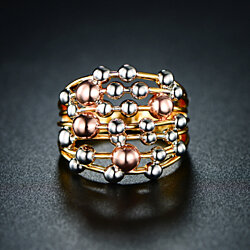 Gold Plated Multi Gold Stacked Ring