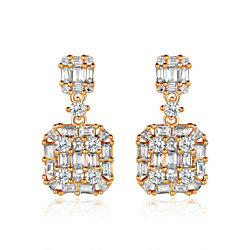 Gold Plated Swarovski Made with Crystal Earrings