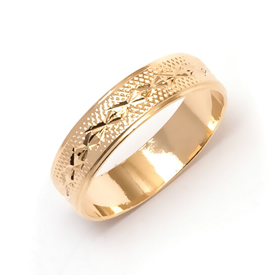 buy slashed engraved gold ring by sgs international