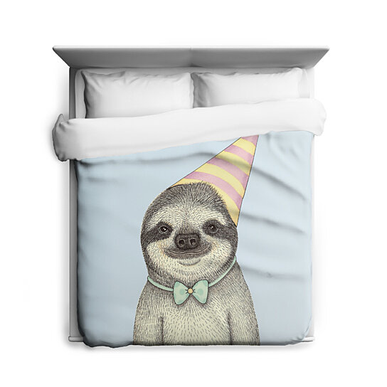 Buy Party Sloth Sloth Duvet Cover By Sharp Shirter On