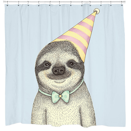 Sloth in party hat - photo#11