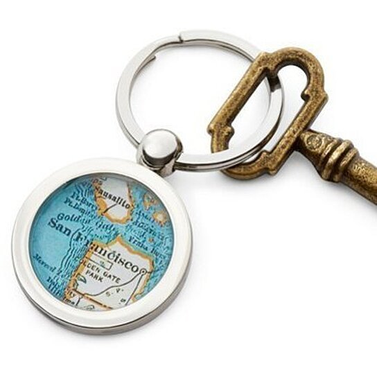 buy san francisco key ring vintage map fob chain by sherry