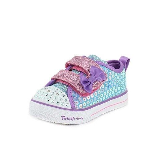 fb1aea494cc43 Trending product! This item has been added to cart 81 times in the last 24  hours. Skechers Girls Twinkle Toes: Shuffle Lite - Mini Mermaid ...