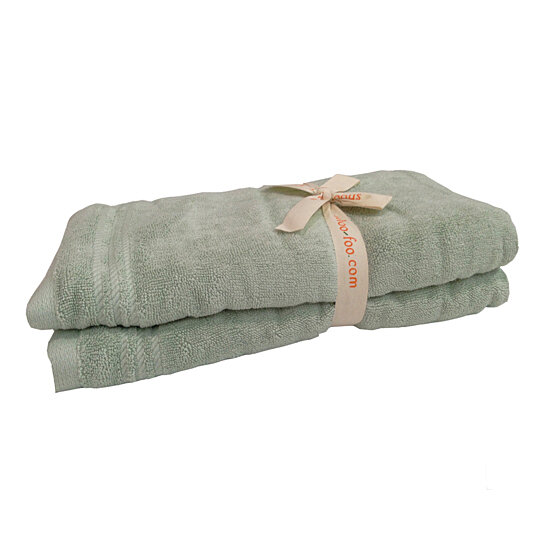 buy bamboo bath towel sage green by shoo foo eco home linens on opensky. Black Bedroom Furniture Sets. Home Design Ideas